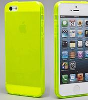Силиконовый салатовый чехол для Iphone 5/5S, фото 1