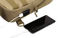 Сумка тактическая нагрудная Protector Plus EDC с USB, фото 5
