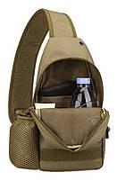 Сумка тактическая нагрудная Protector Plus EDC с USB, фото 6