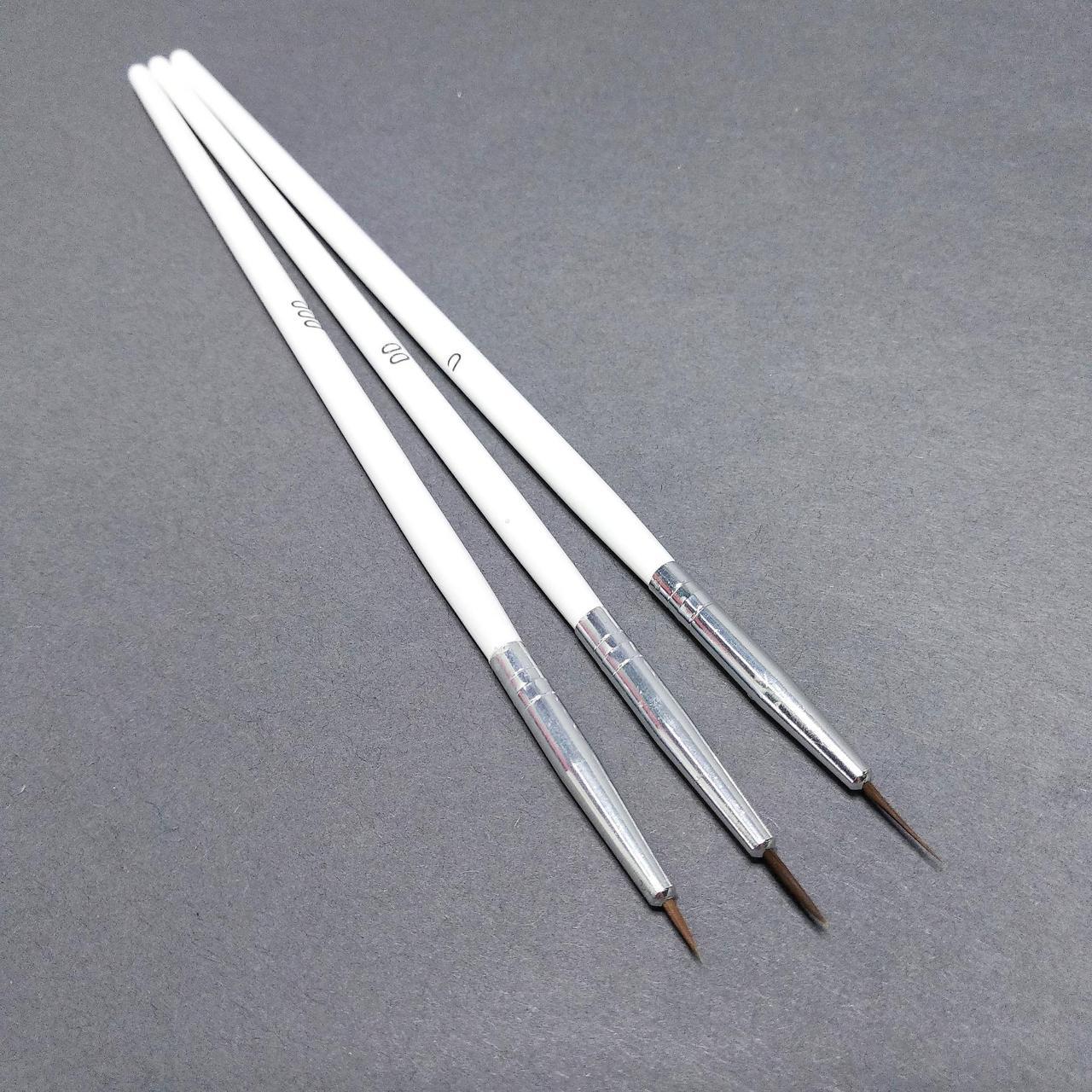 Набор кистей для дизайна ногтей,0, 00, 000.