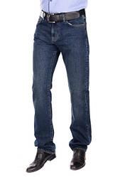 Мужские классические прямые темно-синие джинсы, замеры в описании (Модель продаётся без ремня)