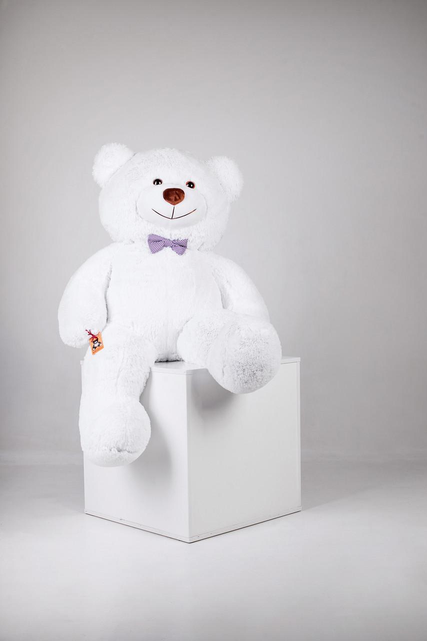 Большой плюшевый медведь Джеральд белый 165 см