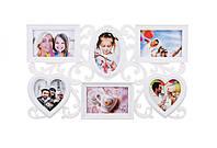 Фоторамка семейная на 6 фото 10*15 и 10*10 см