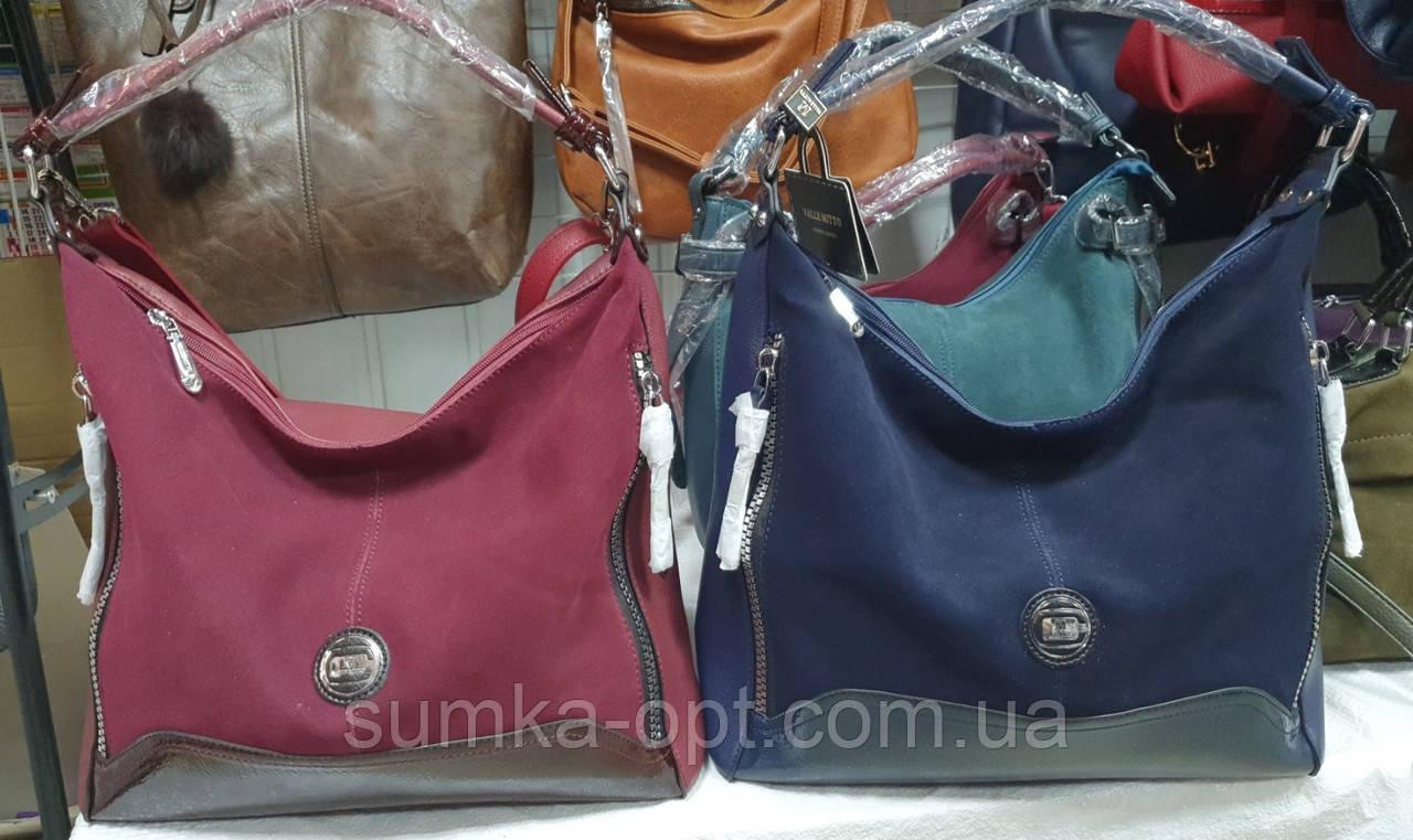 Женские сумки изнатурального замша Китай 2отд (2вета)31*36см