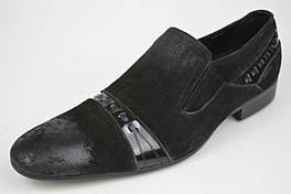 Туфли мужские замшевые Brooman 1613-61 черные 42 размер