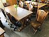 Стол обеденный дубовый со стульями. Германия, фото 2