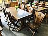 Стол обеденный дубовый со стульями. Германия, фото 3