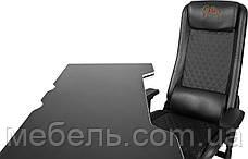 Компьютерный стол со стулом Barsky HG-06/GB-01 Homework Game Black/White,  геймерская станция, фото 3