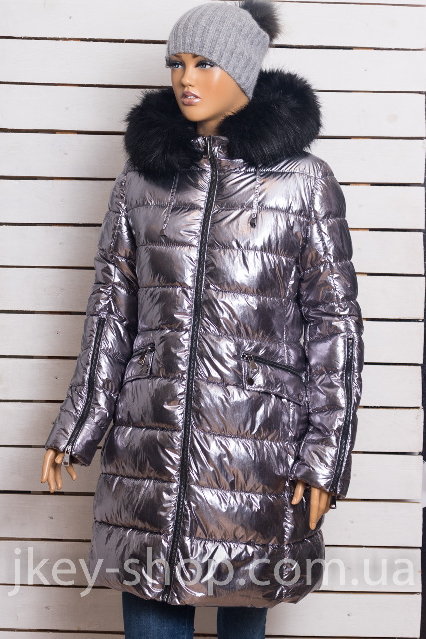 Куртка женская B STYLE YZ87009 SILVER