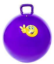 М'яч-стрибун з ручками IronMaster D65см (Anti-burst) насос в подарунок Фіолетовий (IR97401C)