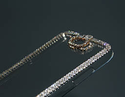 Чехол для Samsung Note 2 N7100 прозрачный с кристаллами