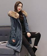 Модная вельветовая парка куртка вельветовое пальто