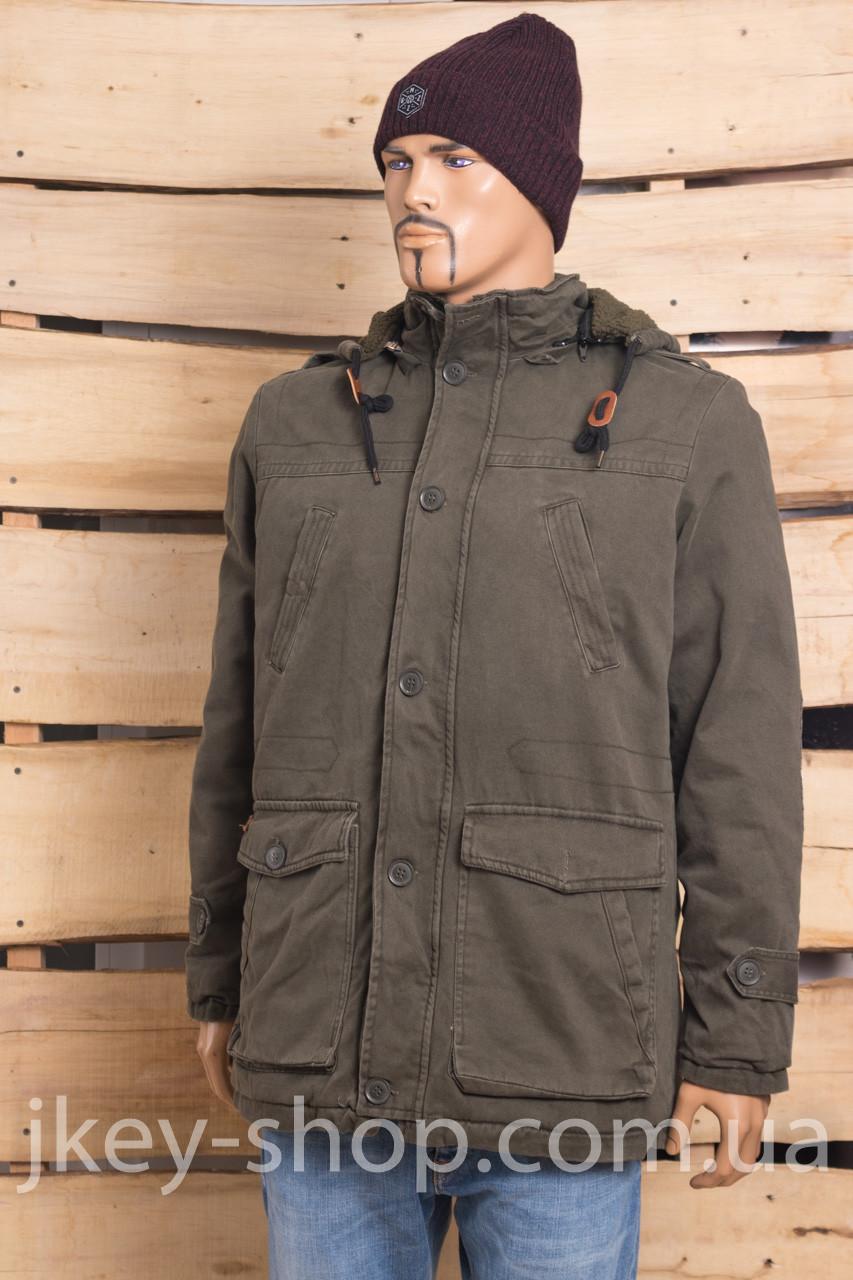 Куртка - Парка мужская FBI 6025-1001 HAKI (DARK) COTTON
