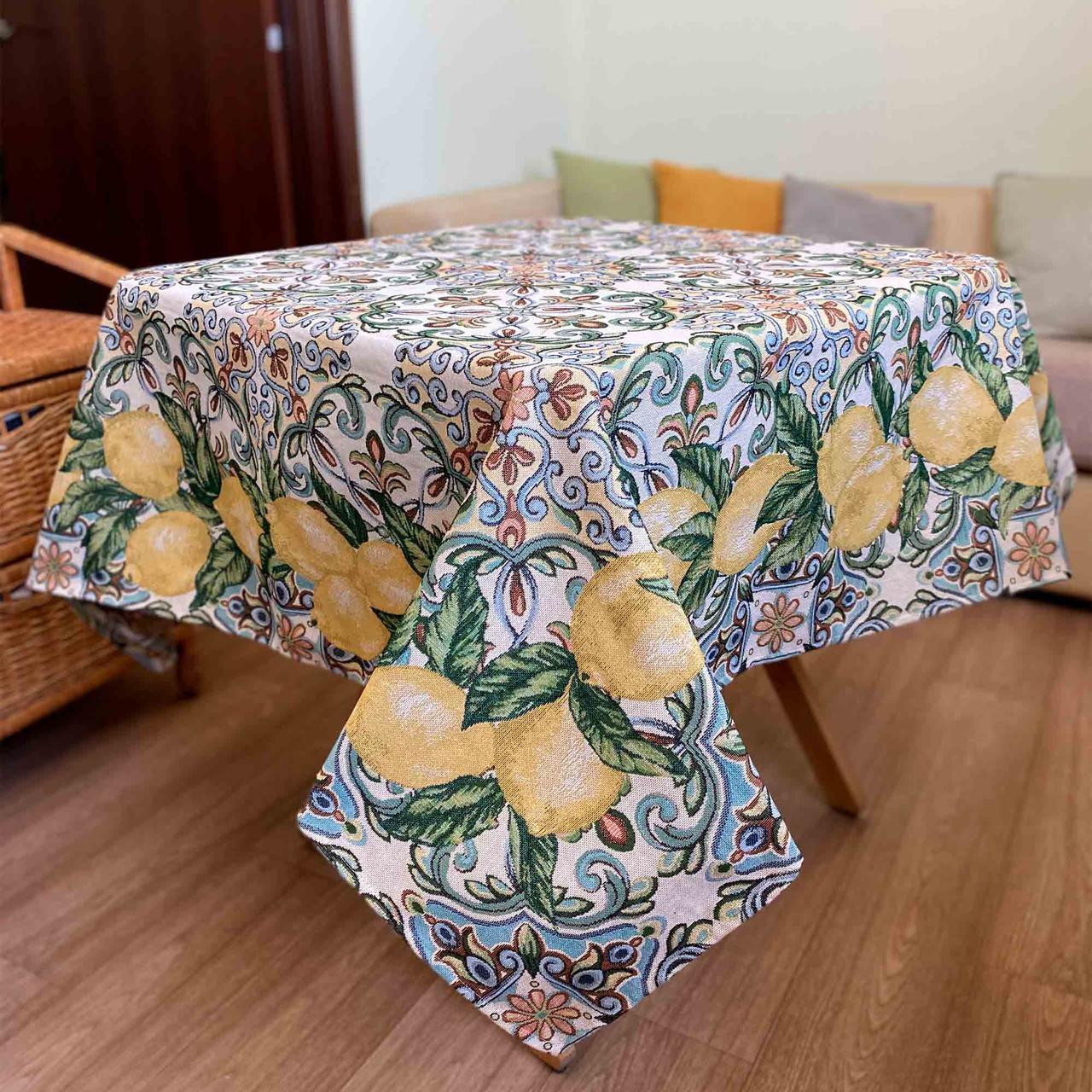 Гобеленовая скатерть Лимон
