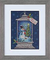 Набор для вышивания крестом Dimensions 70-08987 «Фонарь со снеговиком»