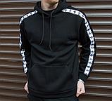 Худи мужское с лампасом Адидас (Adidas), фото 2