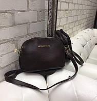 Маленькая женская сумка через плечо коричневая кросс-боди сумочка клатч кожзам, фото 1