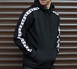 Худи мужское с лампасом Адидас (Adidas), фото 4