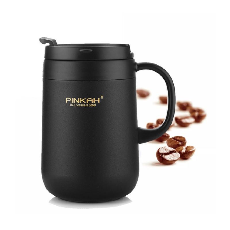 Термокружка Pinkah Desk Mug черная 460 мл