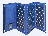 Power bank 8000 mAh Solar, (5V/200mA), 2xUSB, 5V/1A/2,1A, USB  microUSB, ударо защищеный прорезиненный корпус,