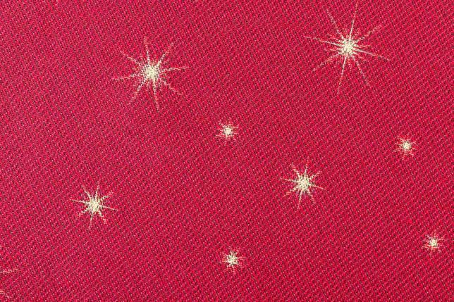"Скатерть новогодняя тканевая гобеленовая круглая ""Різдвяні мрії"" диаметр Ø240 см праздничная красная, фото 2"