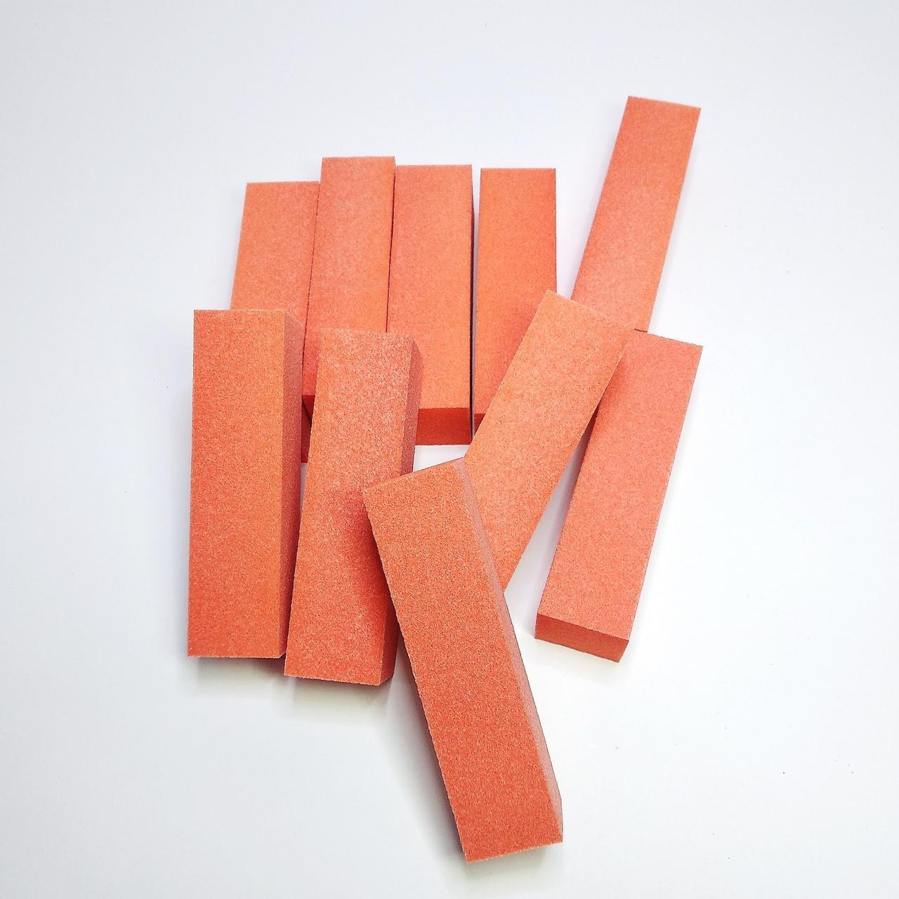 Бафики  шлифовочные для ногтей 10шт оранжевые