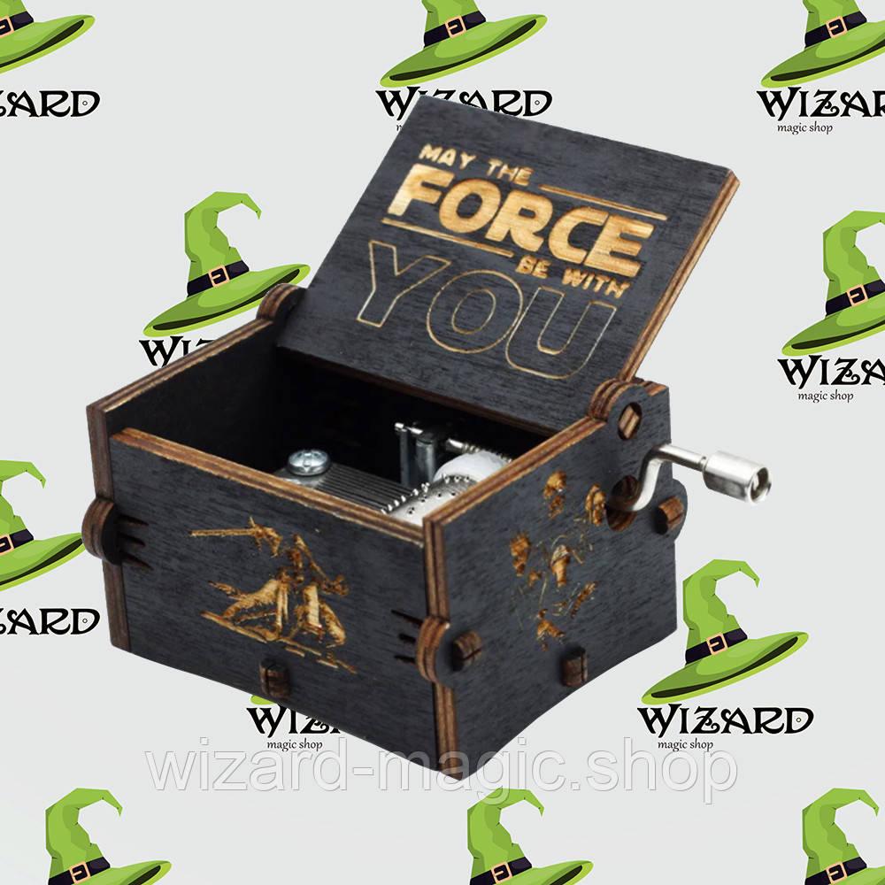 Музыкальная шкатулка винтажная Звездные Войны (Star Wars) черная