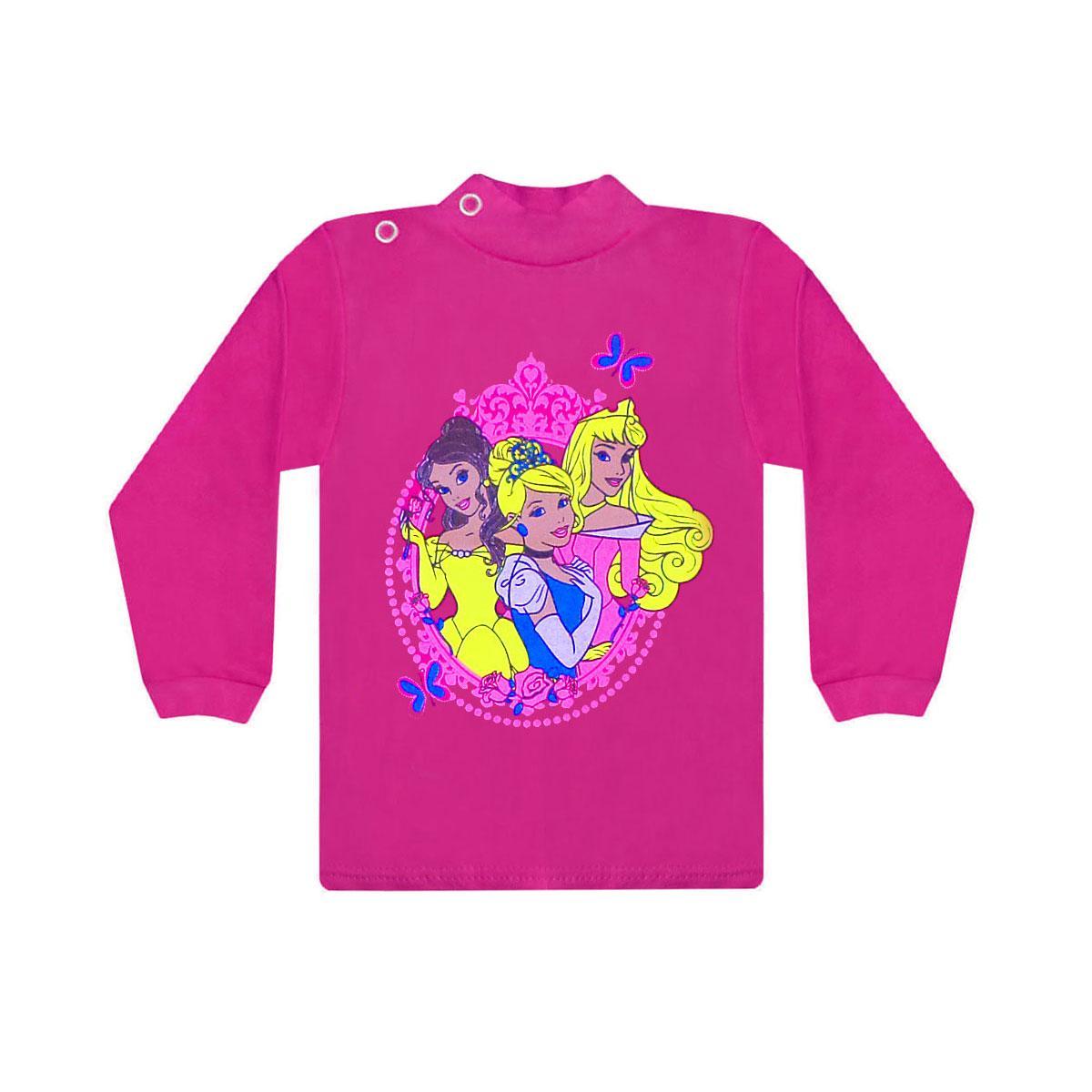 Цветной детский джемпер для девочки Принцессы интерлок