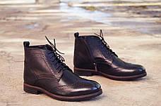 Мужские демисезонные натуральные кожаные броги\полуботинки, фото 2