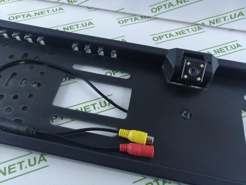 Рамка номера с камерой заднего вида с подсветкой (Черный)