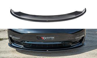 Сплиттер Tesla Model 3 элерон (V1) губа тюнинг обвес переднего бампера
