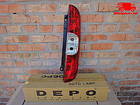 Фонарь задний правый без патрона 10/05- [DEPO] FIAT DOBLO 661-1927R-UE DEPO