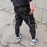 Карго штаны черные, от бренда ТУР модель Ёсида (Yoshida), фото 3