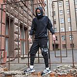 Карго штаны черные, от бренда ТУР модель Ёсида (Yoshida), фото 6