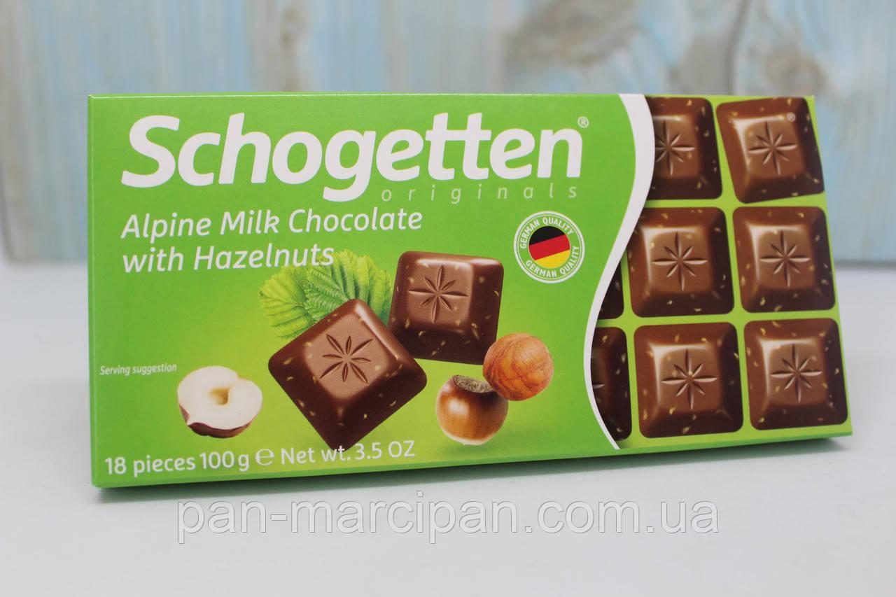 Шоколад Schogetten Hazelnuts (мол.горіх) 100г