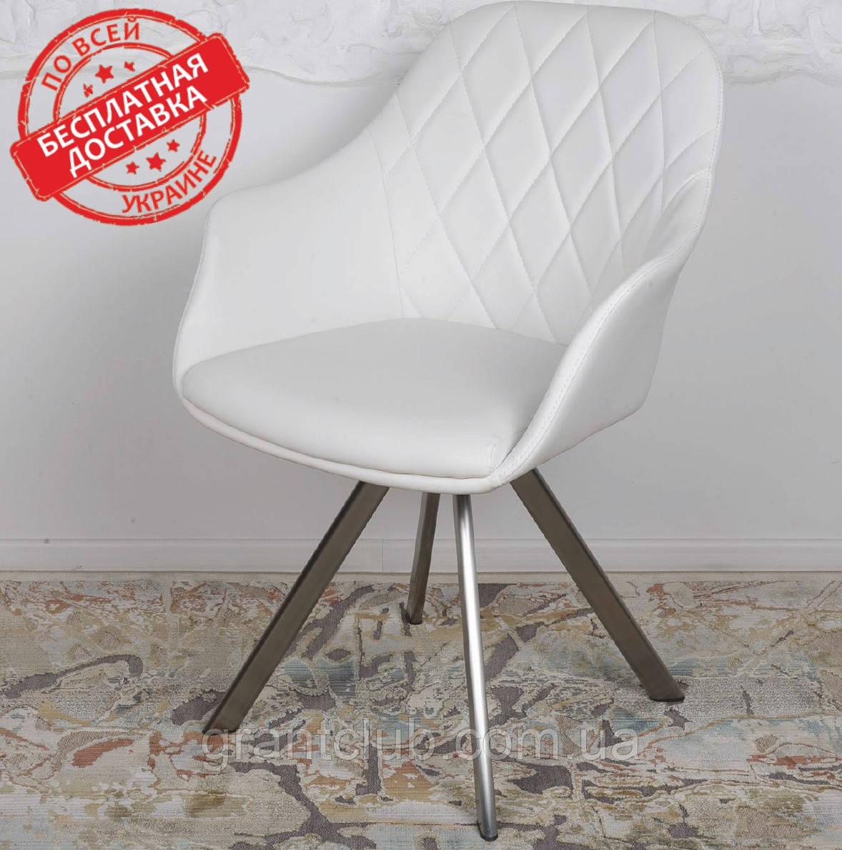 Кресло поворотное ALMERIA белый кожзам Nicolas (бесплатная доставка)