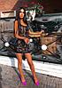 Стильное вечернее короткое платье с пайетками без рукава, фото 5