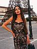 Стильное вечернее платье миди с пайетками без рукава, фото 6