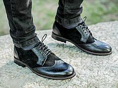 Мужские натуральные кожаные броги\туфли Mustang