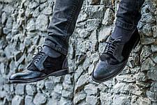 Чоловічі натуральні шкіряні броги\туфлі Mustang, фото 3