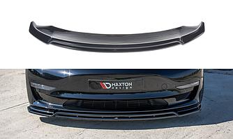 Сплиттер Tesla Model 3 элерон (V2) губа тюнинг обвес переднего бампера
