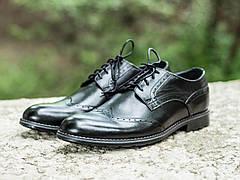 Мужские натуральные кожаные броги\туфли Expensive