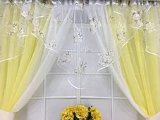 """Кухонные шторы """"Фелисия"""" Желтая, фото 3"""
