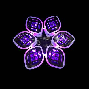 Светодиодная LED люстра СветМира 105 Вт с подсветкой и регулировкой яркости LS-7123/6 CH