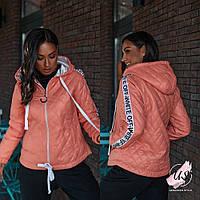 Полубатальная женская спортивная курточка с капюшоном., фото 1