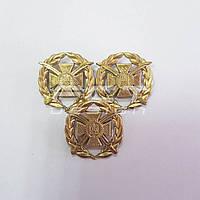Кокарда сухопутних військ металева загальновійськова ЗСУ золото