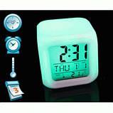 Часы светильник Хамелеон CX508 будильник термометр, фото 3