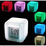 Часы светильник Хамелеон CX508 будильник термометр, фото 4