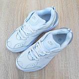 Жіночі кросівки в стилі Nike M2K Tekno білі з сірим, фото 8
