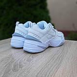 Жіночі кросівки в стилі Nike M2K Tekno білі з сірим, фото 10